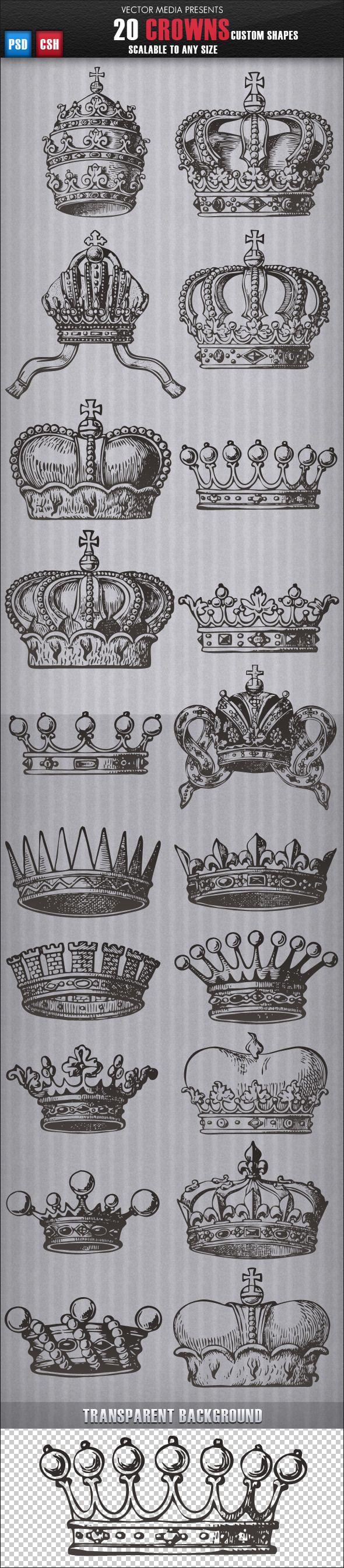 20 Crowns - formas personalizadas - Objetos Shapes