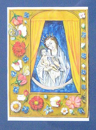 Mary and baby Jesus painted by Marchela Dimitrova