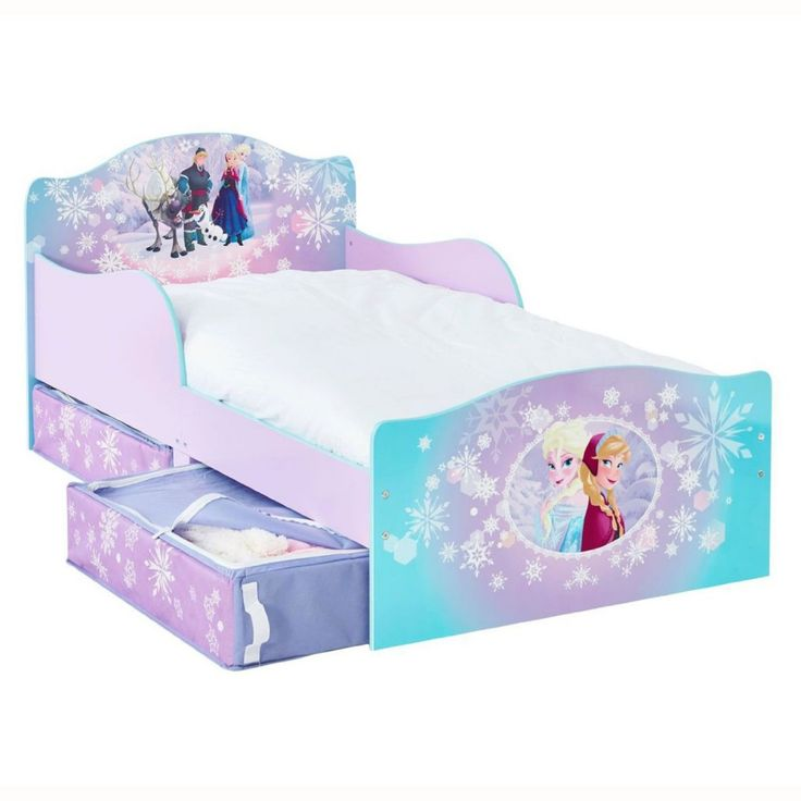 Frozen bed http://wallartkids.com/frozen-themed-bedroom-ideas #frozen