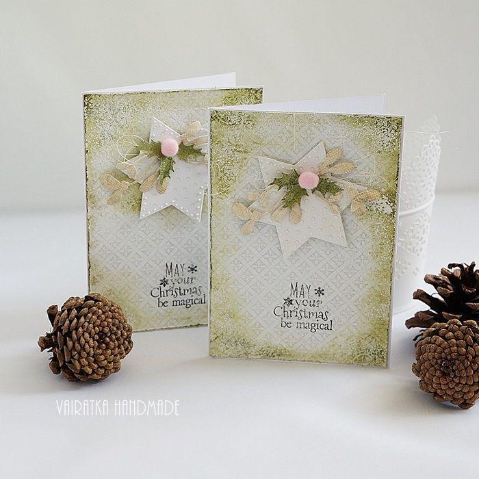 Wesołych Świąt – Kartki bożonarodzeniowe - kolor: miętowy, biały, wymiary: 10,5x15cm – Artillo