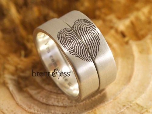 Custom Fingerprint Wedding Bands Handcrafted by Brent&Jess