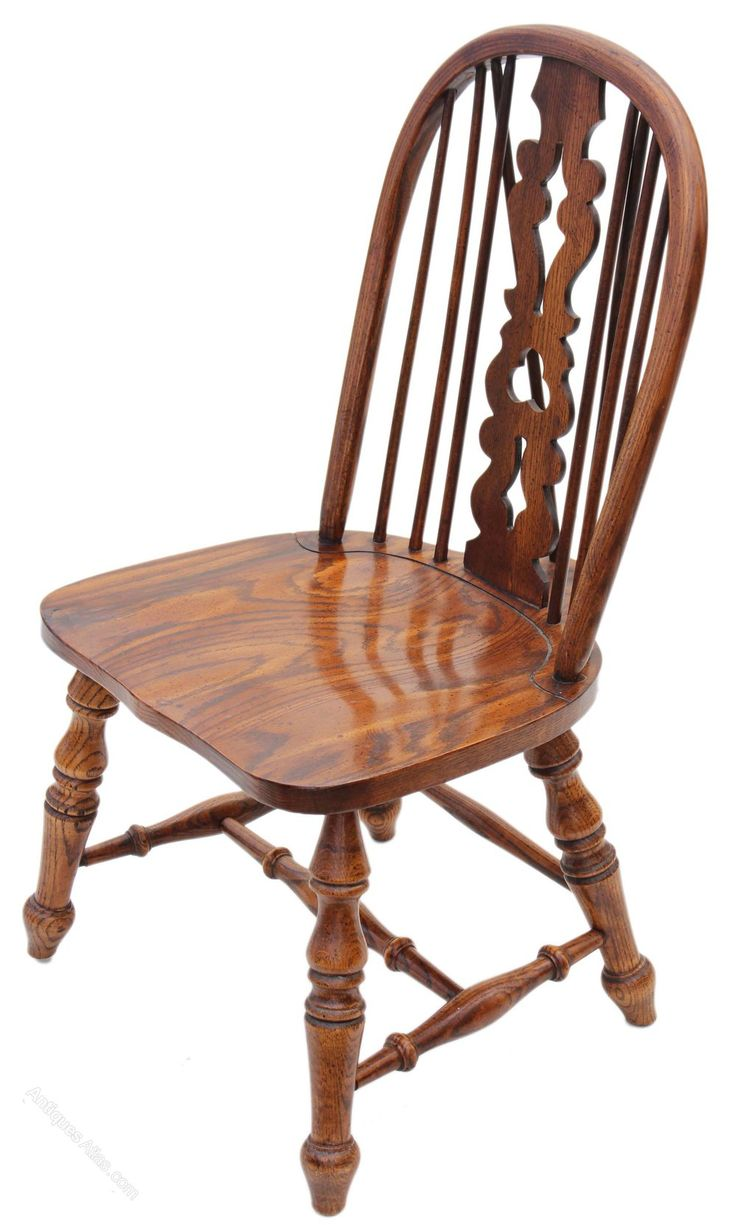 Victorian rocking chair - Victorian Revival Elm Oak Windsor Chair