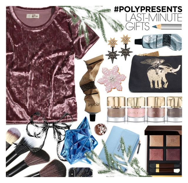 """""""Last-Minute Gifts"""" by ana3blue on Polyvore featuring Hollister Co., Smith & Cult, Aesop, Figue, INC International Concepts, Tom Ford, Laura Mercier and Thierry Mugler"""