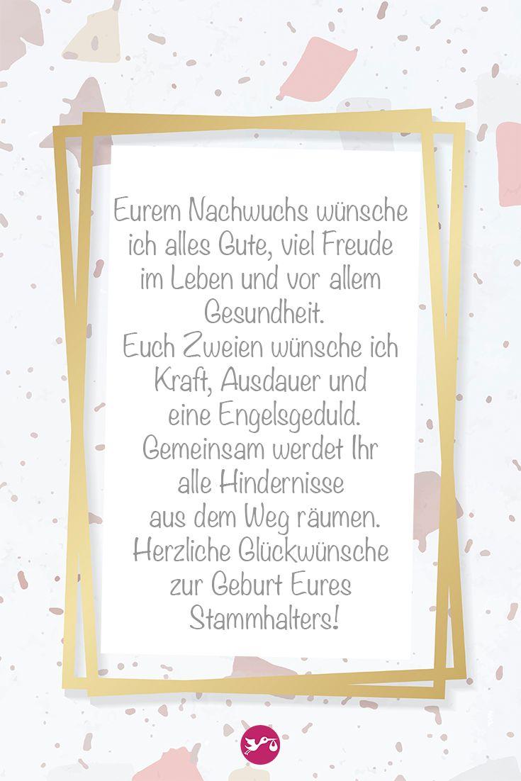 Eurem Nachwuchs wünsche ich alles Gute, viel Freude im Leben und vor allem Gesundheit… – windeln.de