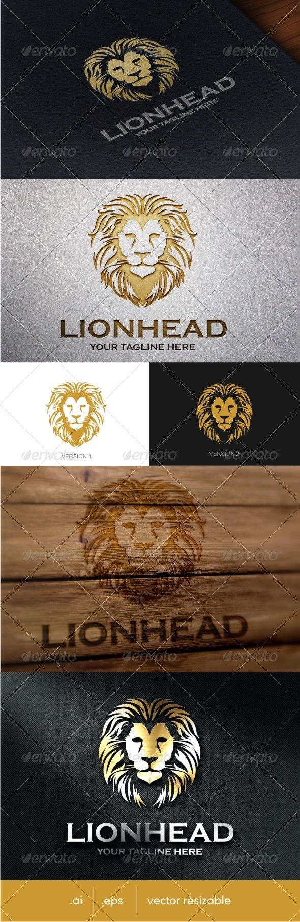 Lion Head Logo  #graphicriver