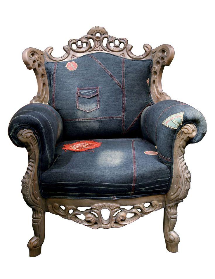 Fauteuil Mink Jeans is een eigentijdse barokke stoel uit de Kare Design collectie en is nu verkrijgbaar bij Furnies.nl voor €799,-!