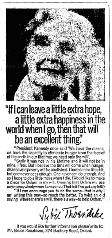 Oxfam. 13 January, 1970