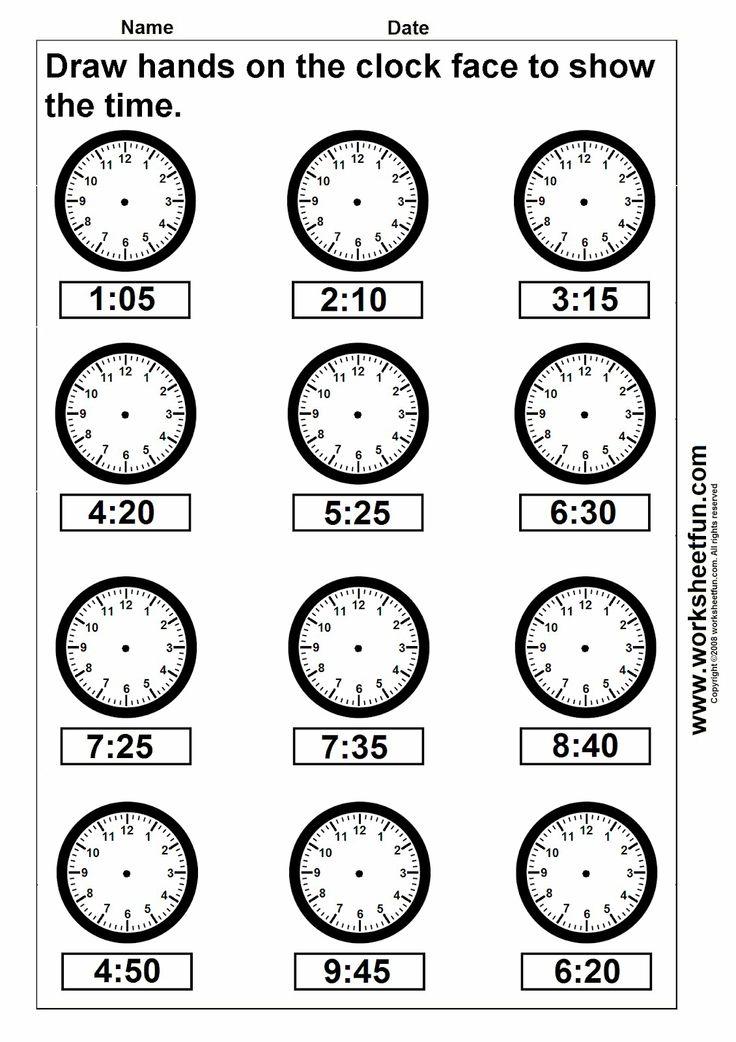 Clock Telling Time Worksheet Printable Worksheetfun