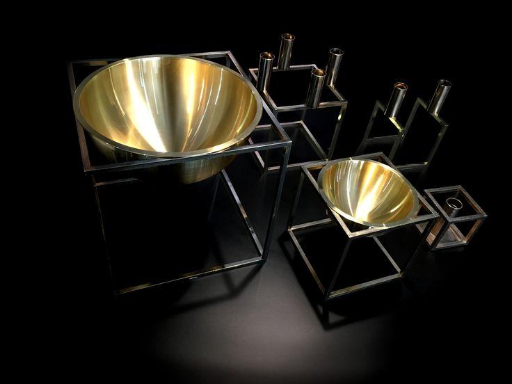 Brass By lassen Kubus range @lucdesign