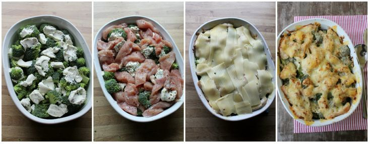 2 brokkoli 4 kyllingfilêter 1 boks philadelphia kvitløk&urter revet eller skiva ost salt og pepper