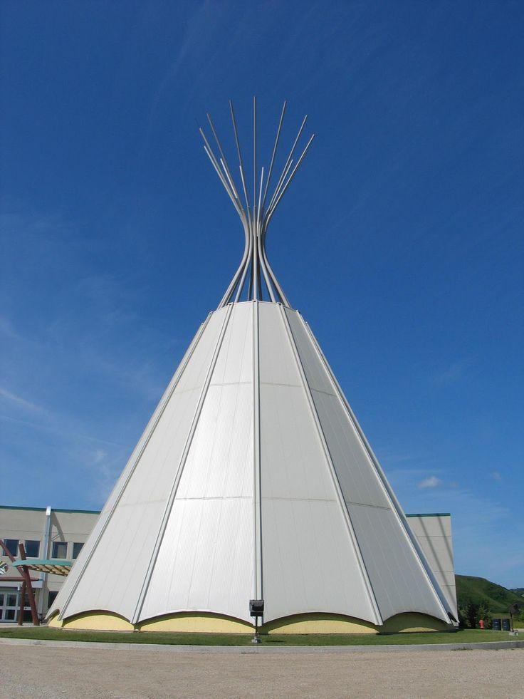 """Giant Teepee"" at Parkland College, Fort Qu'Appelle, Saskatchewan"