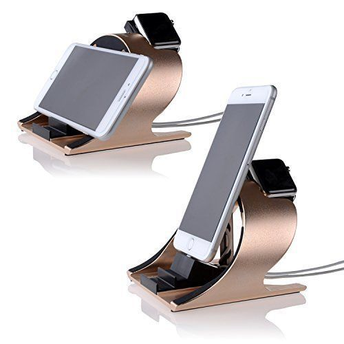 Aluminium Charging Dock Station Charger Stand Holder For Apple Watch iPhone Pink #AluminiumChargingDockStation