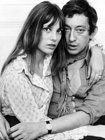 jane birkin and serge gainsbourg, mother and father of charlotte gainsbourg.