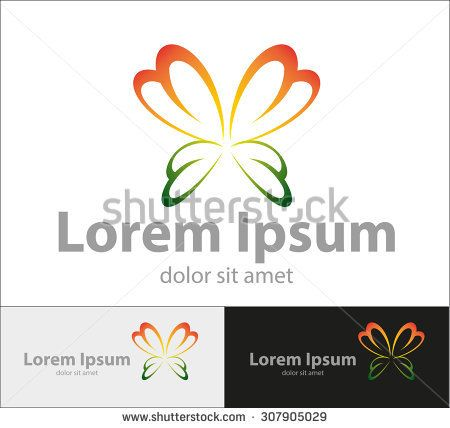 Vector abstract, lovely butterfly shape, for a company logo