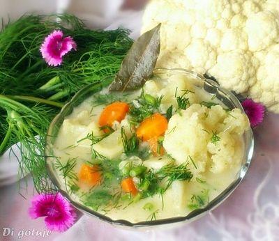 Di gotuje: Zupa kalafiorowa z koperkiem
