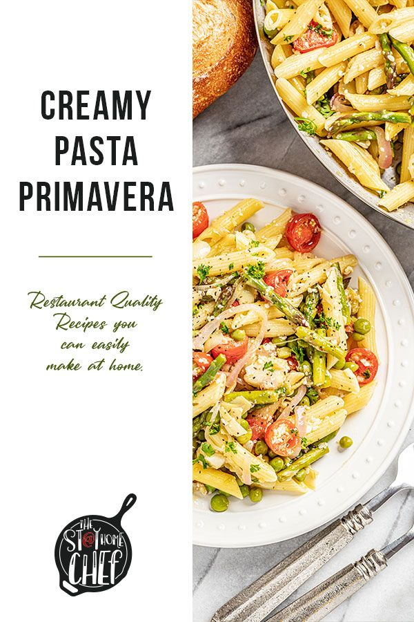 Pasta Primavera Recipe In 2020 Creamy Pasta Primavera Easy Pasta Recipes Creamy Pasta
