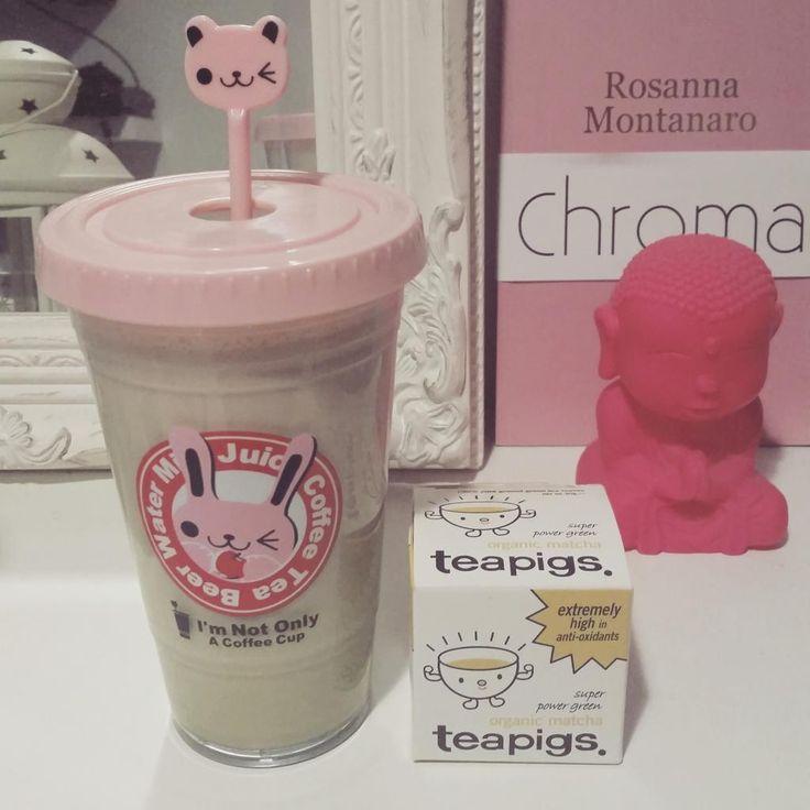 @teapigs #matchachallenge day three - white chocolate and matcha protein shake!