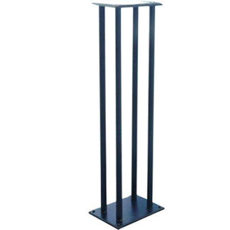 Dual Heavy-Duty Steel Support Bookshelf / Monitor Speaker Stand Mounts, Black
