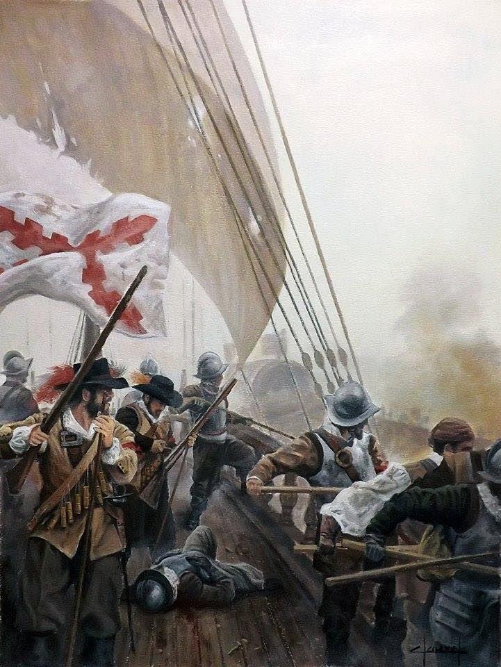 Tercios embarcados en Batalla de Haarlemmermeer, 26 de Mayo de 1573, por cortesía de José Ferré Clauzel. Más en www.elgrancapitan.org/foro
