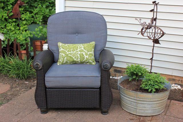 Outdoor Wicker Recliner. Outdoor FabricOutdoor CushionsYard ...