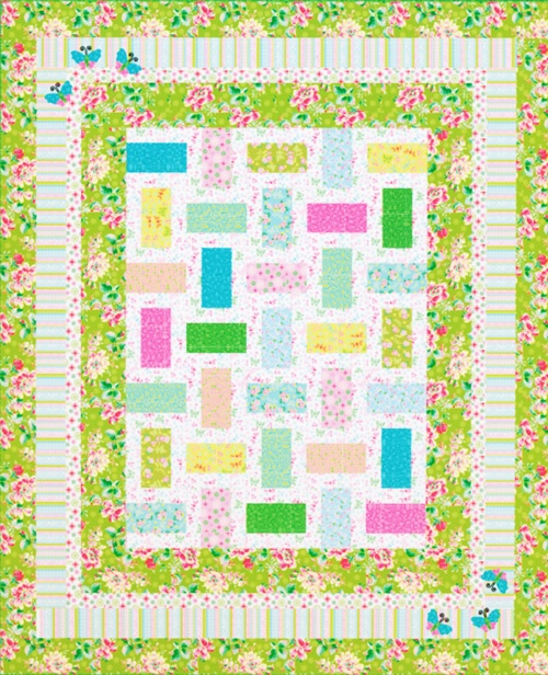 """""""At the Hop"""" quilt pattern using Ro Gregg's Peggy Sue farbrics free for download at Fabri-Quilt.com."""