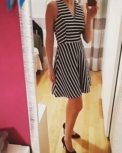Stripes Printed Dress // Fashion Spring 2016