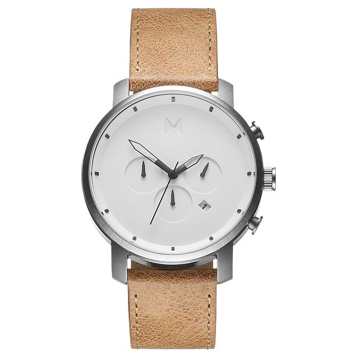 Chrono White/Caramel Leather – MVMT Watches