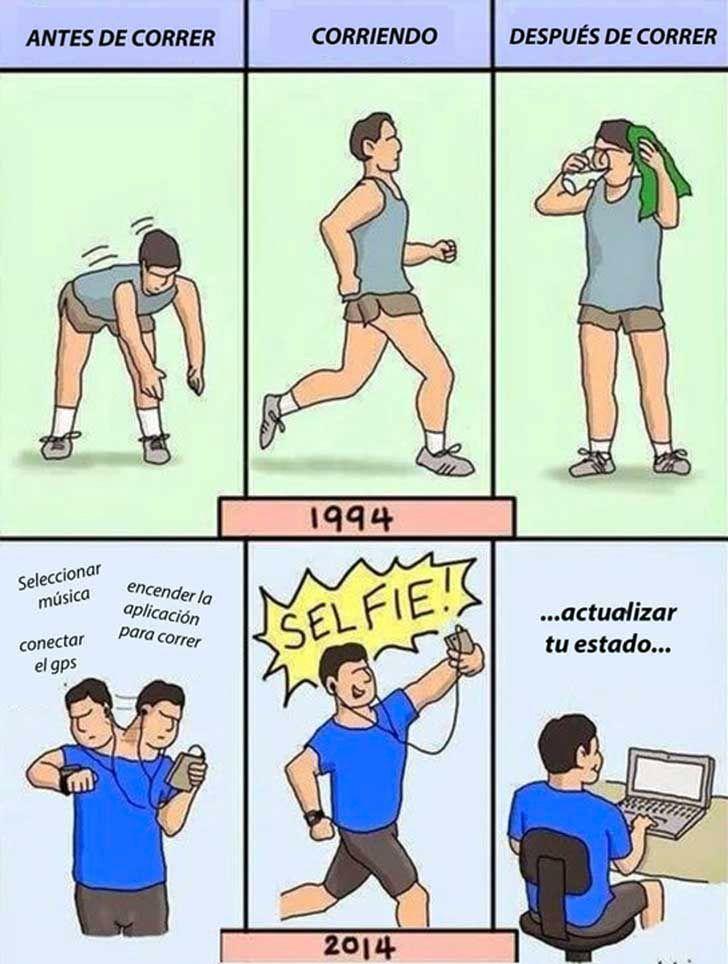 Corriendo antes y ahora