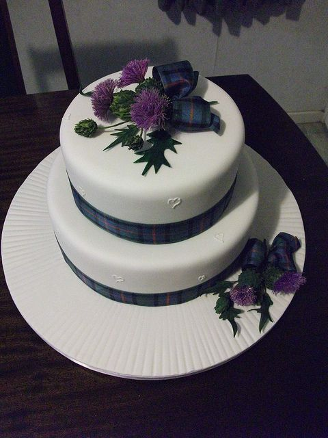 scottish thistle cake