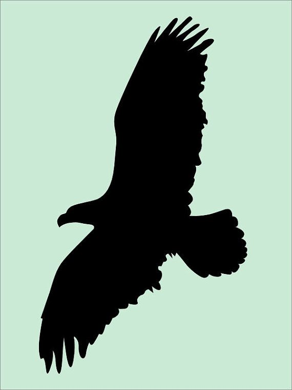 Eagle 9 x 12 Stencil - Create pillows and signs