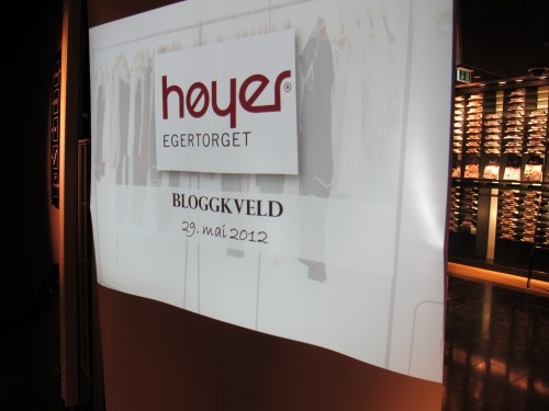 Kveld for motebloggere hos Høyer Eger