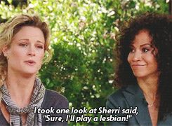 Teri Polo and Sherri Saum talking about playing a couple on ABC Family's The Fosters.