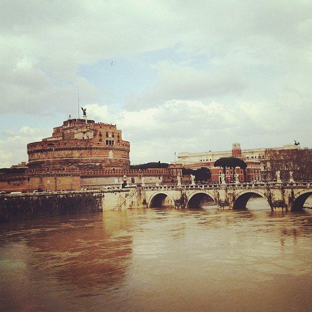 Castel Sant'Angelo and Ponte Sant'Angelo on the Tiber