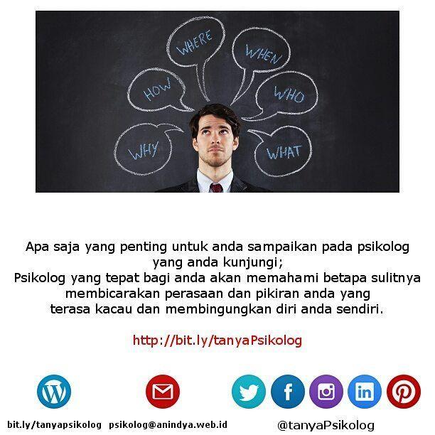 Anda mau ke psikolog? Apa saja yang bisa anda sampaikan?  #tanyaPsikolog #psikolog #jakarta #konseling #konsultasi #konsultasipsikologi #PsychologistJKT #Psychology #MHSM #psikologi #PsychologistJakarta #mentalhealth #thecouch #education #tanyapsikologi  Lihat yuk artikel lengkapnya di Blog Anindya Psychological Practice http://bit.ly/2ohr8w3 http://bit.ly/tanyaPsikolog