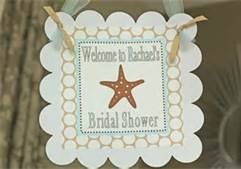 beach bridal shower theme- welcome sign