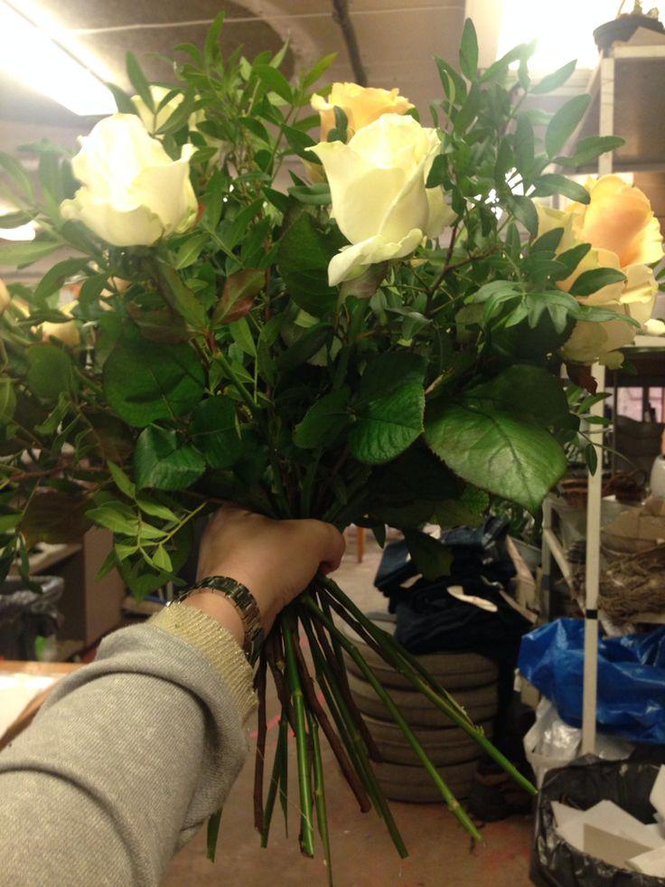 Bukett til farmor, 20stk store roser