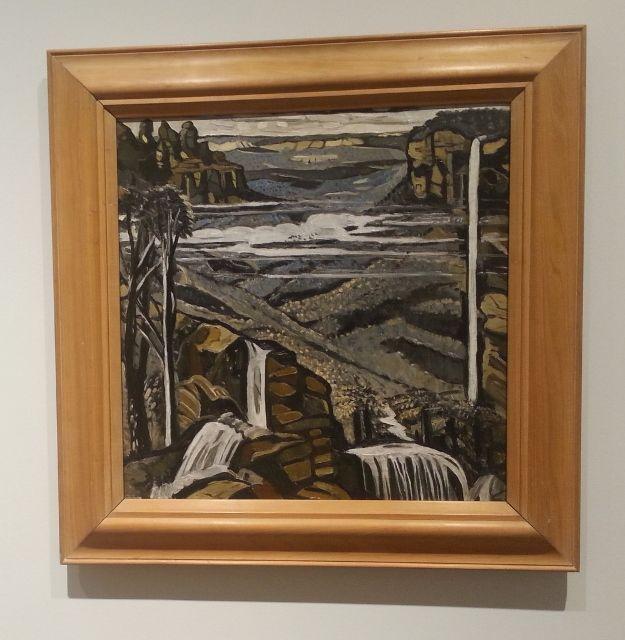 Margaret Preston, Blue Mountains theme, oil on board, c1941 (2) (625x640) Collection of Shepparton Art Museum