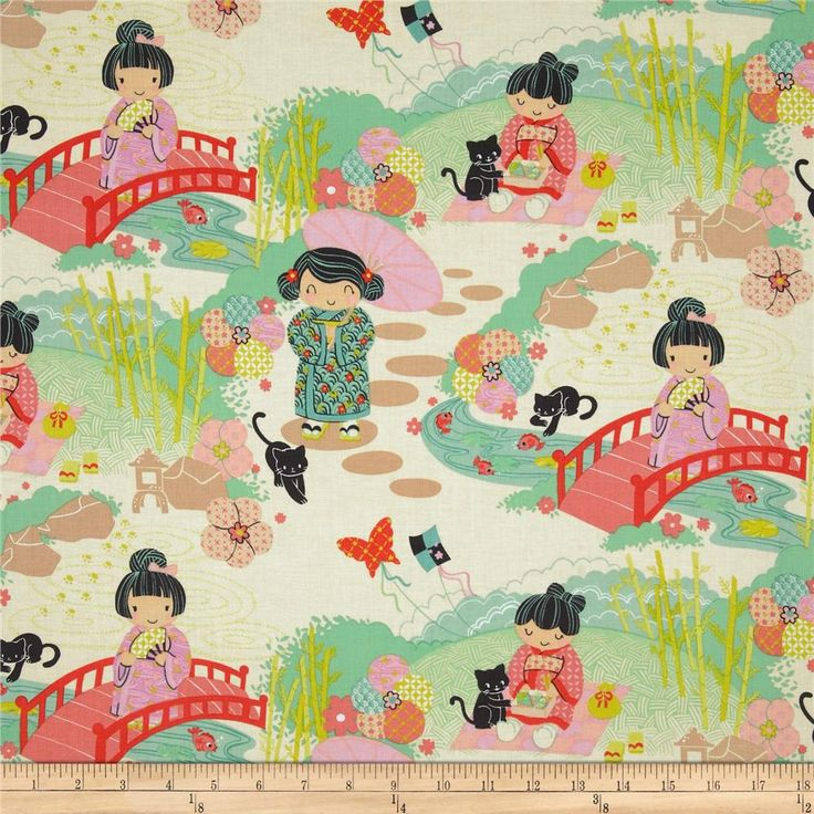 Aoi has 2 Sisters Asian Garden Red Stained - toddler bedding