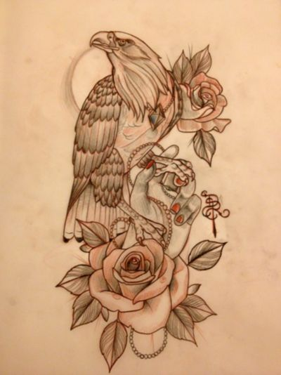 Done by Drew Romero - I want something like this but with a wolf