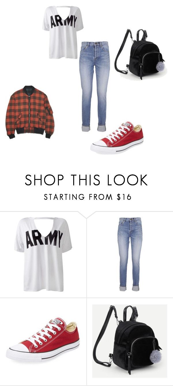 """""""just for jess"""" by shannon-tilley on Polyvore featuring Sans Souci, Yves Saint Laurent and Converse"""