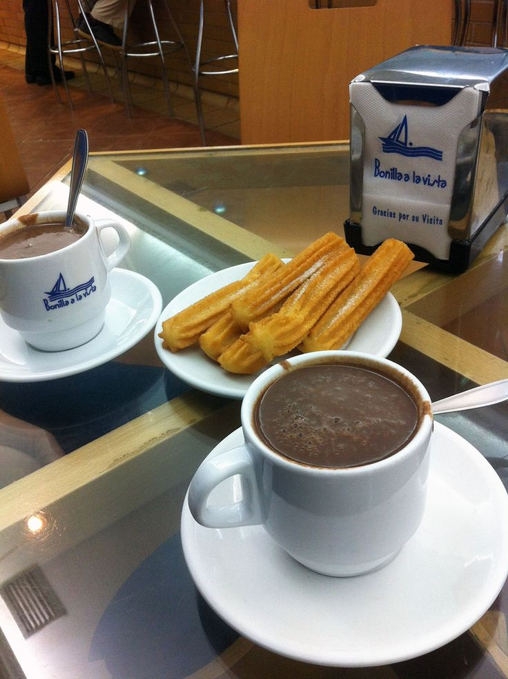 Chocolate con churros, Bonilla a la Vista, A Coruña. Obrigada visita se pasas polo centro desta cidade.