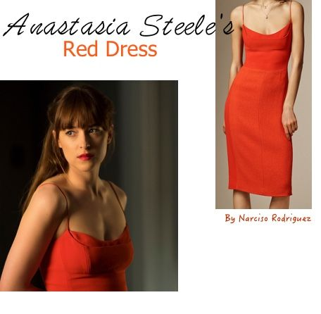 Fifty Shades Darker movie: Ana's (Dakota Johnson) The red engagement dress found!