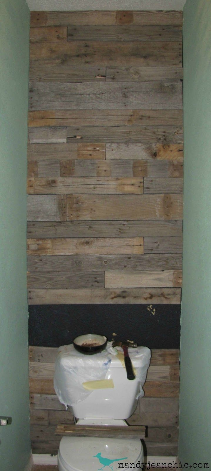 Mandy Jean Chic Diy Pallet Wall For The Free Toilet Room