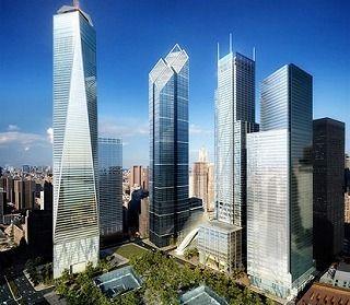 特徴的な形が綺麗なニューヨークのグラウンドゼロ。