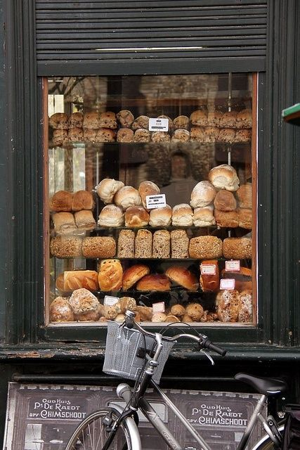 Great idea to put foods on display in a window for passer bys