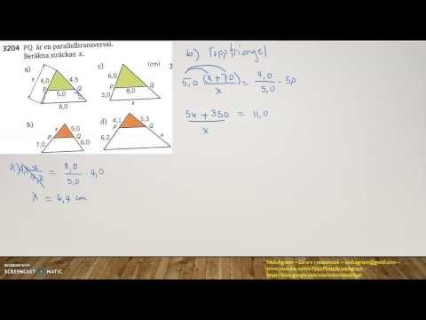 Matematik 5000 Ma 2c   Kapitel 3  Geometri   Topptriangelsatsen och tran...