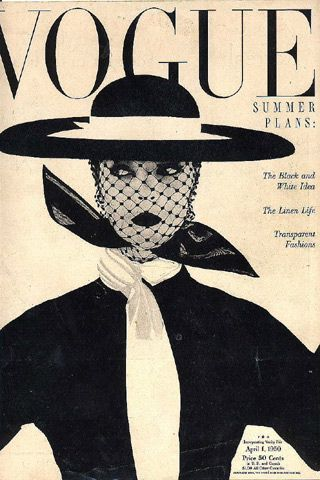 Portada de 1950 de Irving Penn en Vogue, con Lisa Fonssagrives.