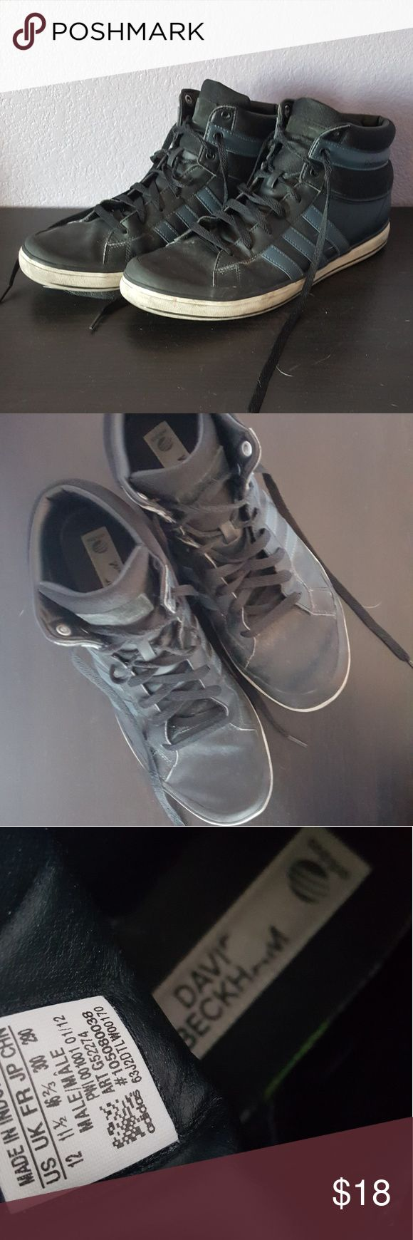 Black David Beckham Adidas Nice used condition Adidas sneakers adidas Shoes Sneakers