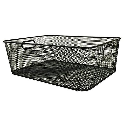 Durable Mesh Shallow Storage Bin in Black | 14.5  L x 10.5  ...  sc 1 st  Pinterest & Storage bin: 10+ handpicked ideas to discover in Other | Storage ...