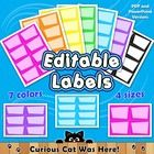 Labels:  Labels with bright and colorful polka dots in a modern design frame.  Label your books, binders, classroom supplies, and more.  These labe...